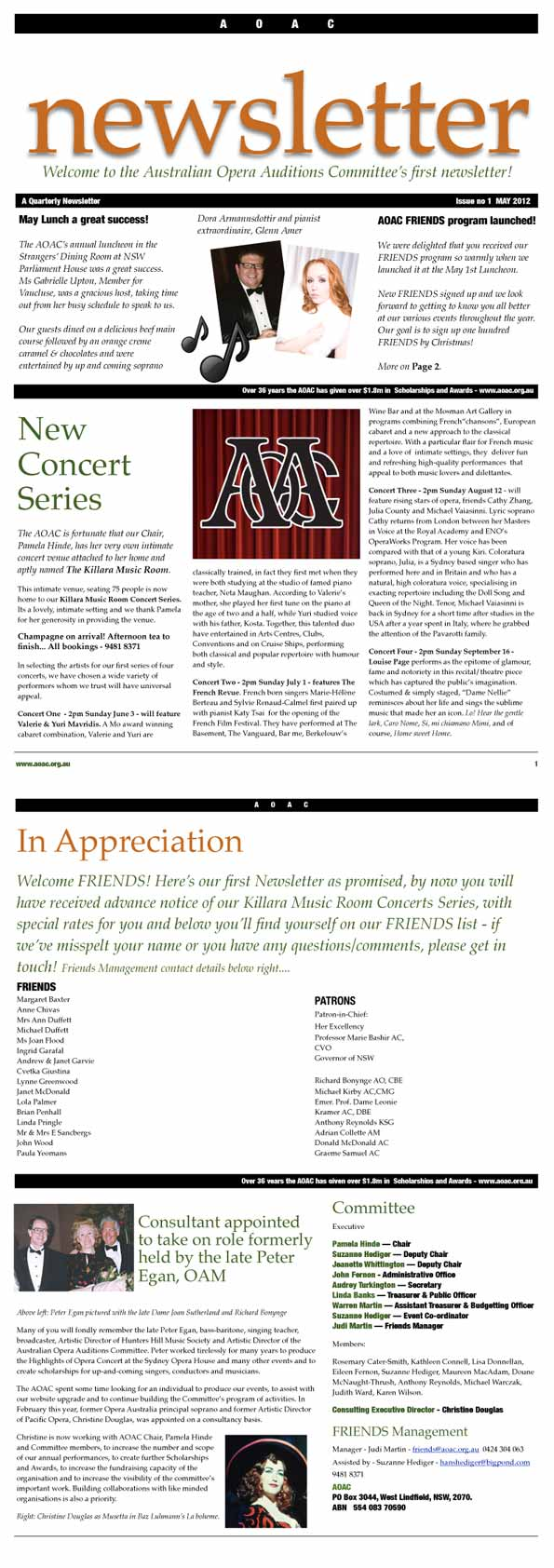 AOAC May 2012 Newsletter